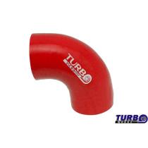 Szilikon könyök TurboWorks Piros 90 fok 89mm